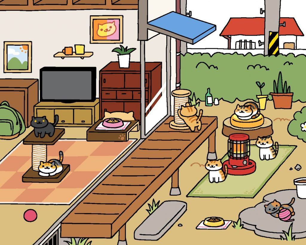 My original garden, look at all those happy cats!