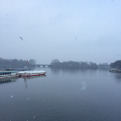 L'Alster sous la neige