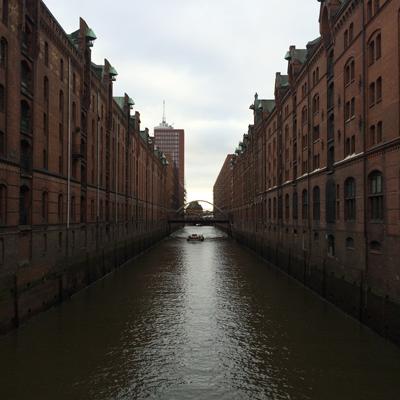 Les canaux de Speicherstadt
