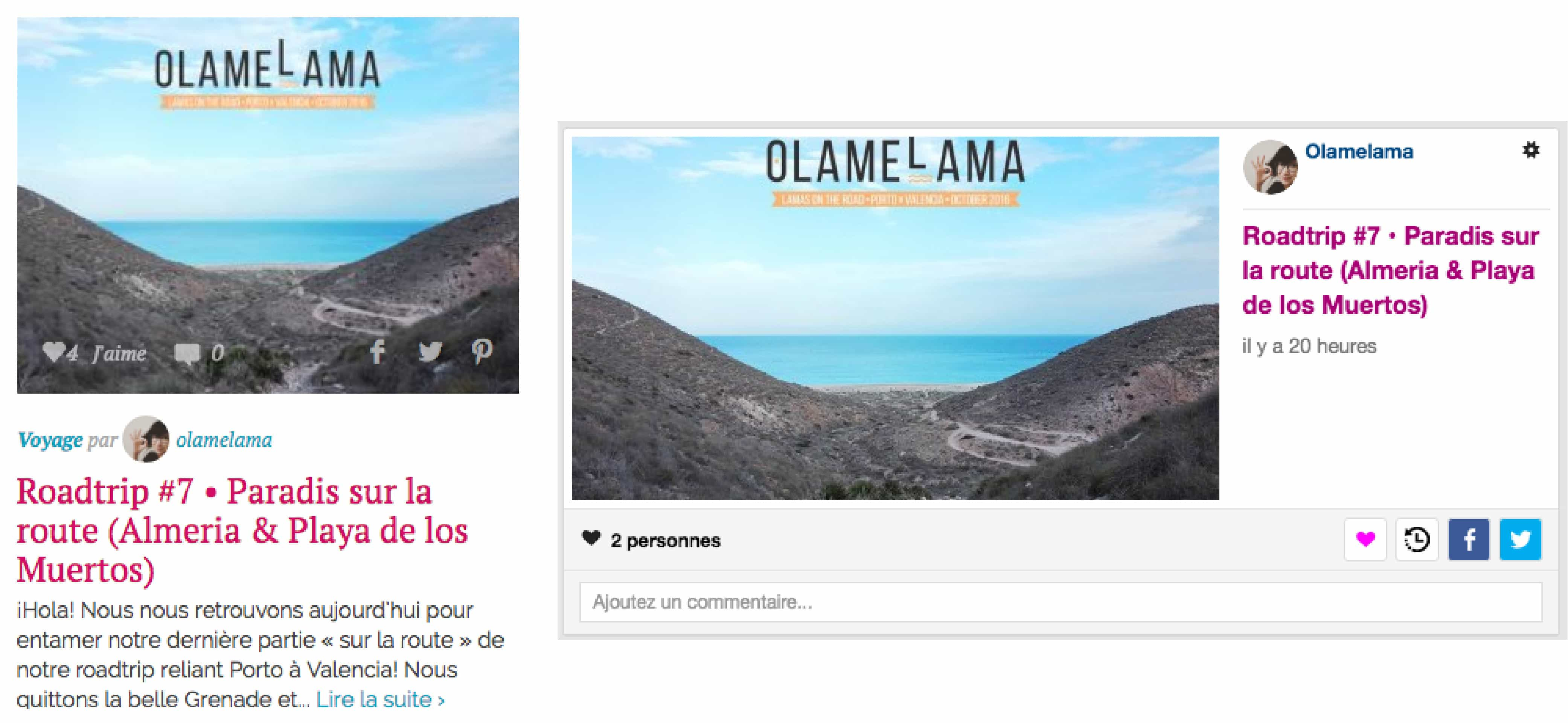 Olamelama selectionné sur Hellocoton et Inspilia ce 29.11.2016