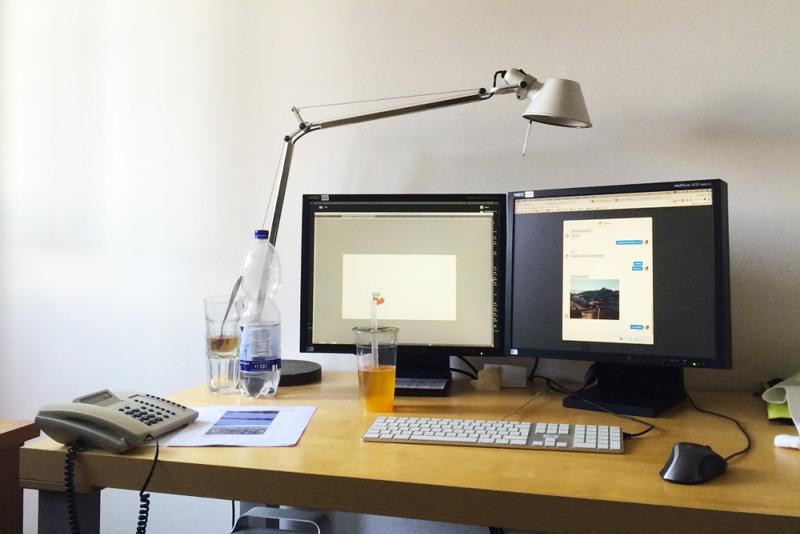 Bureau dans un studio de design à Cologne - Olamelama