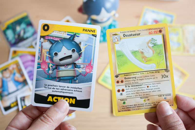 Yo-Kai Watch 3 - Détail cartes à jouer et différence avec Cartes Pokémon - Manga édité par Kazé - Olamelama - Blog geek et lifestyle