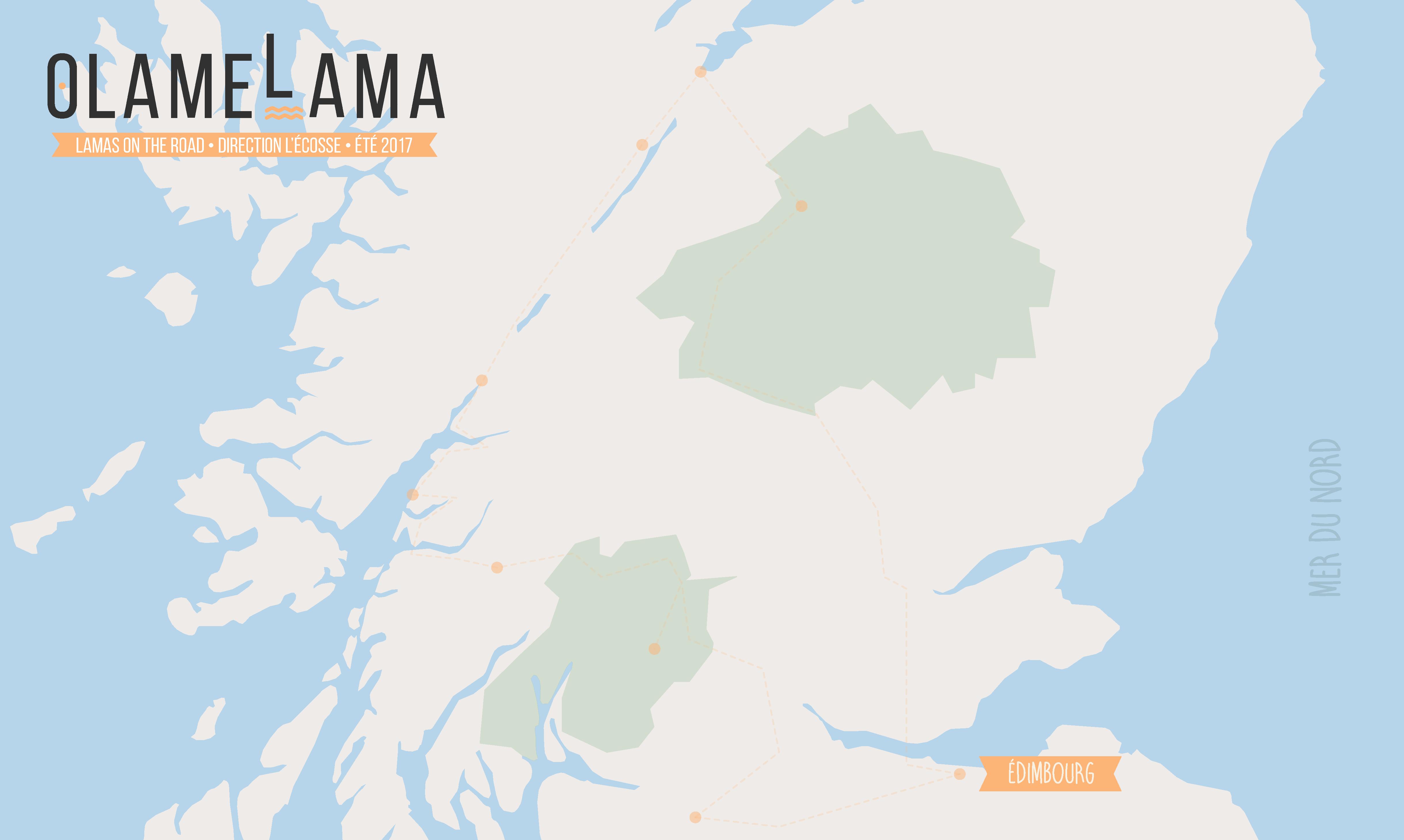 Roadmap Voyage en Écosse - Edimbourg - Olamelama