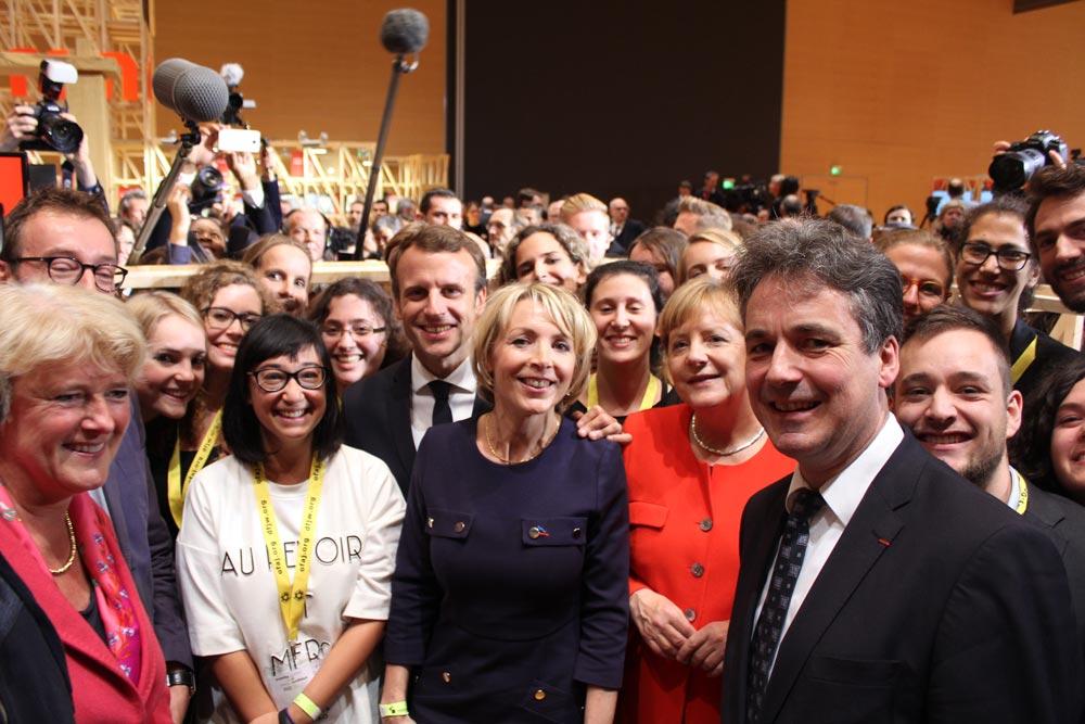 Foire du Livre de Francfort Rencontre avec Macron et Merkel