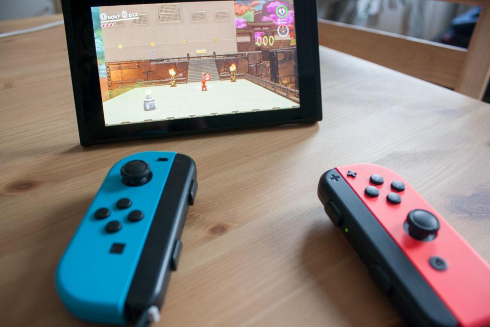 Nintendo Switch Vue des deux manettes