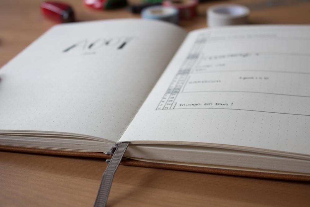 Avis, test et informations sur le bullet journal Lemome - Mise à plat