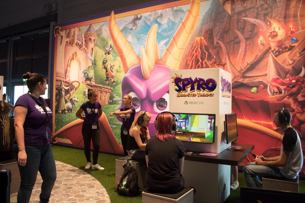 Compte-rendu de la Gamescom 2018 - Test de Spyro