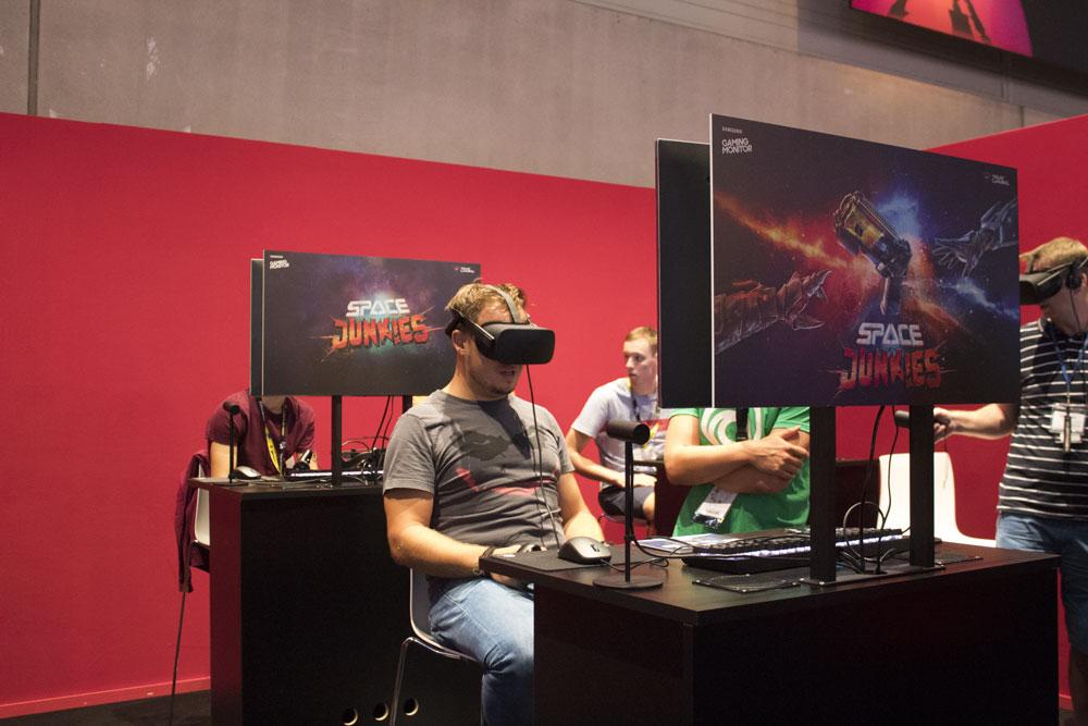 Compte-rendu de la Gamescom 2018 - Test de la VR avec le jeu Space Junkies
