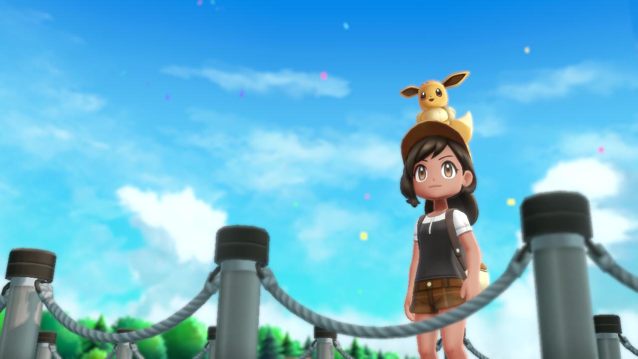 Pokemon Let's Go sur Nintendo Switch - Personnage avec Evoli