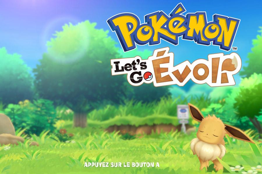 Pokemon Let's Go sur Nintendo Switch - Écran d'accueil