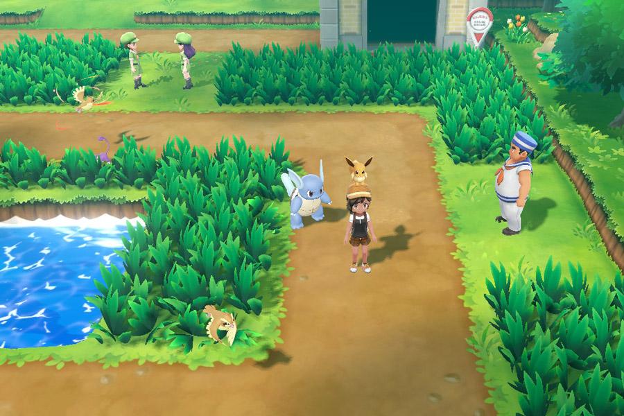 Pokemon Let's Go sur Nintendo Switch - Pokemon dans la nature