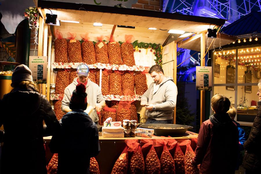 Marchés de Noël à Düsseldorf - Marrons grillés