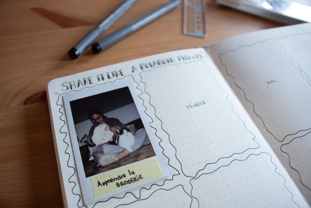 Bullet Journal - Focus page polaroid
