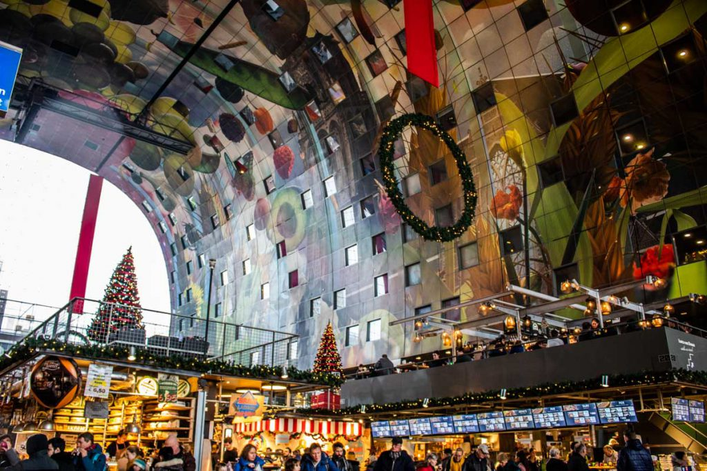 Week-end à Rotterdam - Intérieur du Markthal