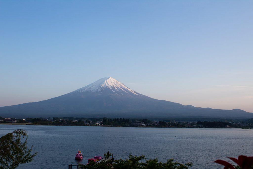 50 souvenirs du Japon - Coucher de soleil sur le Mont Fuji