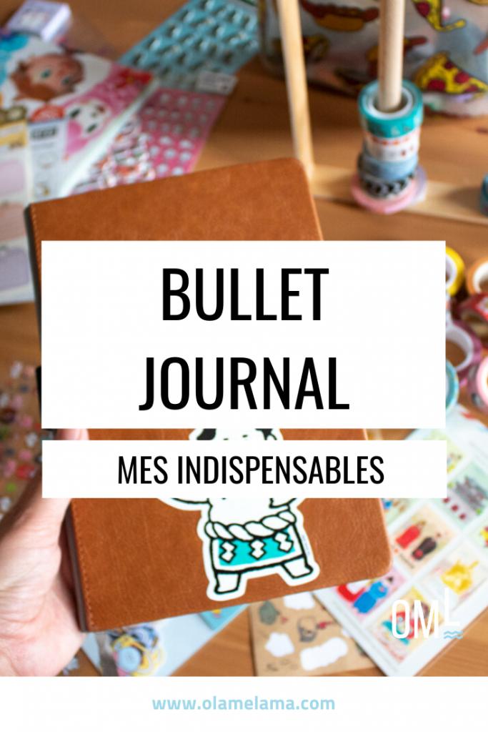 Indispensables pour bullet journal - Olamelama