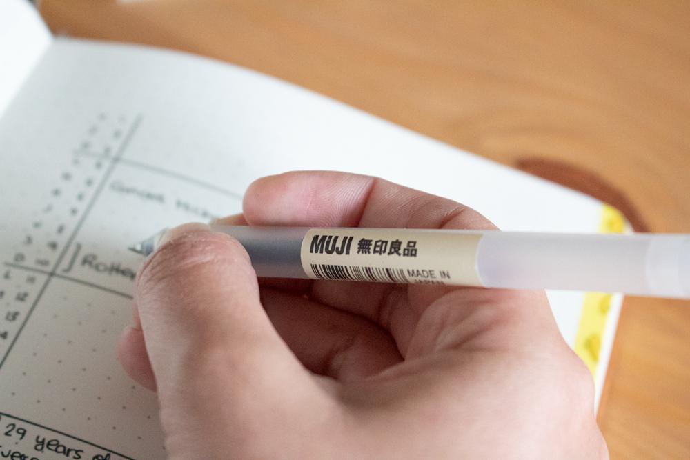 Indispensables pour bullet journal - Marqueur Muji