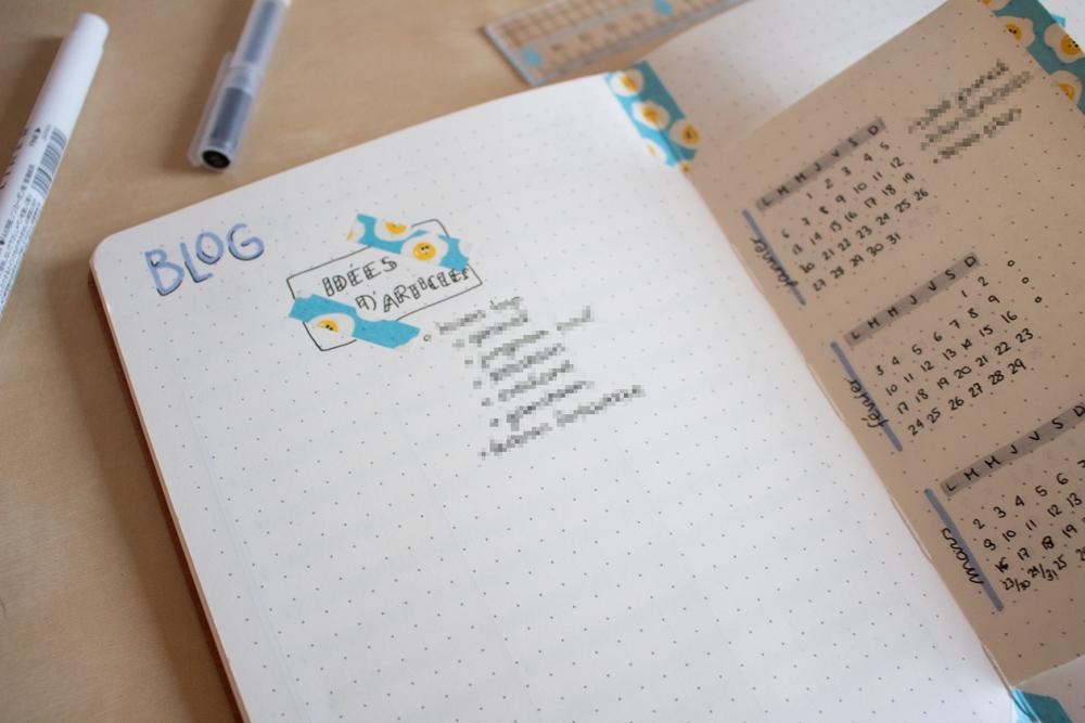 Mon setup pour bullet journal 2020 - Blogging - Articles