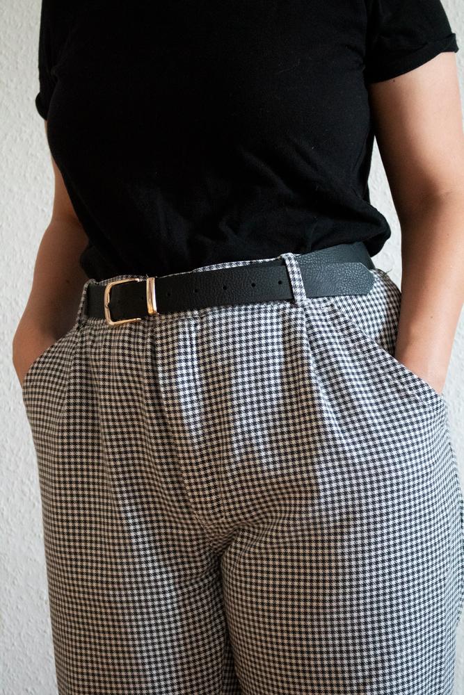 Dans ma garde-robe seconde main : mes trouvailles chinées - Pantalon pied-de-poule