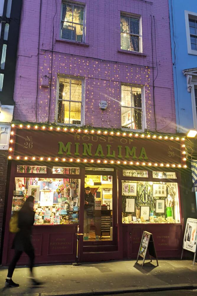 Voyage solo à Londres - MinaLima