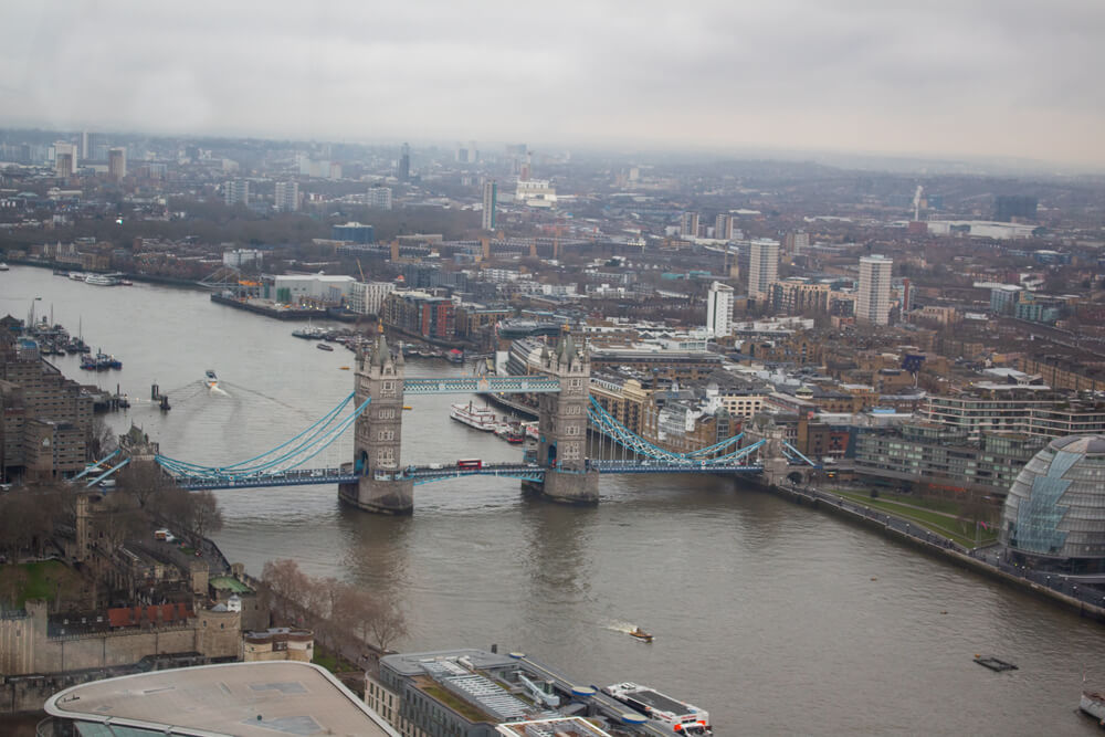 Voyage solo à Londres - Vue depuis SkyGarden