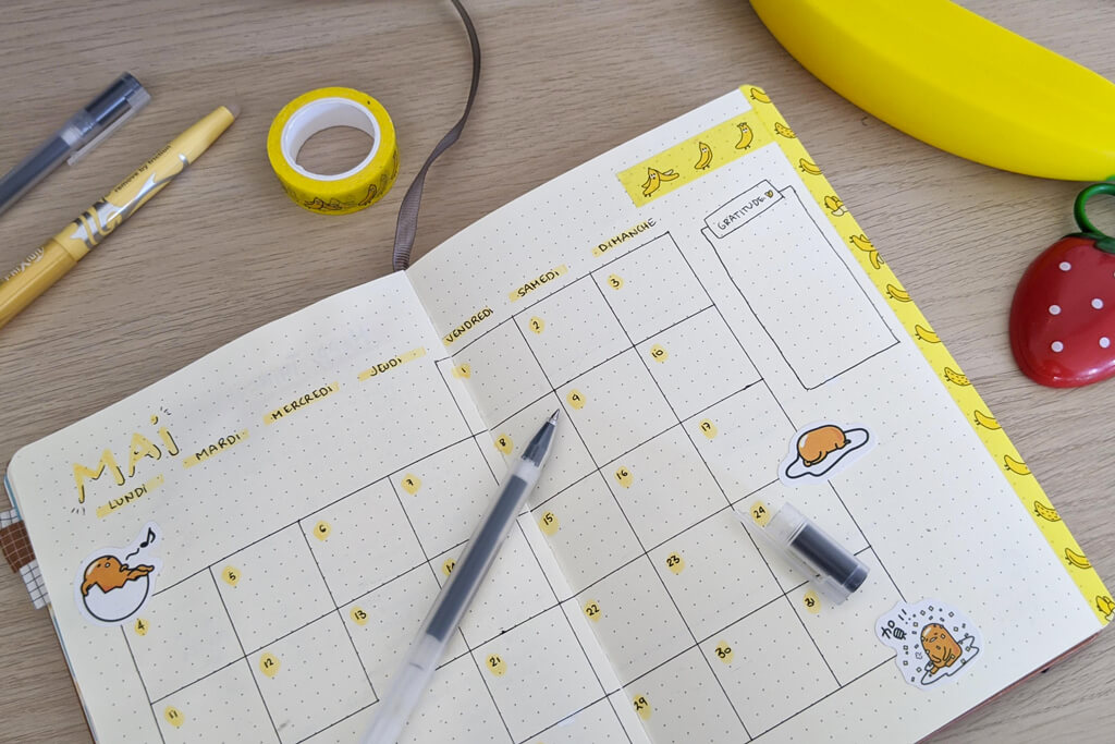 Bullet Journal - Mai 2020 - Gudetama double page