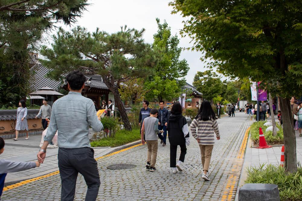 Visiter Jeonju en 24 heures - Guide - Rue commerçante